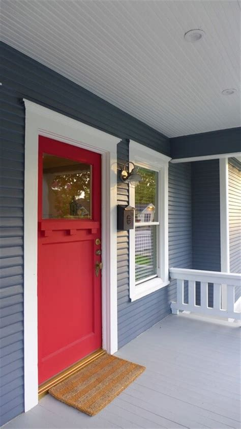 blue house white trim front door 35 different red front doors many designs pictures