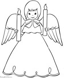 christmas angle colouring pages