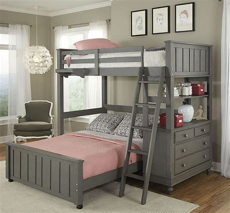 loft bedroom set lake house stone youth loft bedroom set with full lower