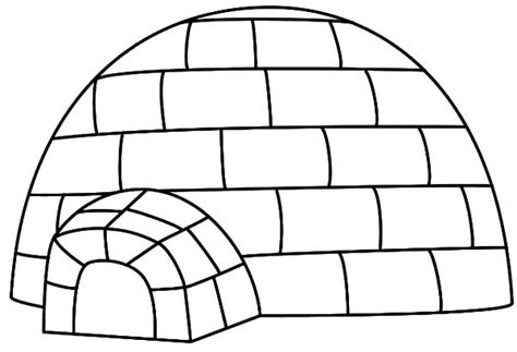 igloo coloring page free igloo coloring pages printable murderthestout