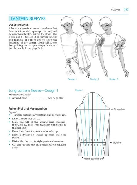 clothes pattern cutting lantern sleeves pattern making for fashion design learn