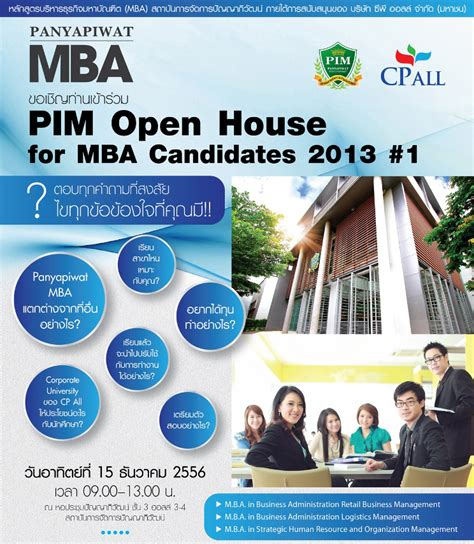 Pim Mba by Pim Open House For 2014 Mba Candidates Mba News Thailand