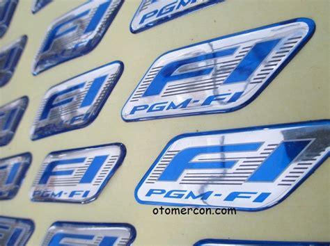 Emblem Logo Simbol Honda Fi Pgm Fi Original emblem logo fi honda kayak gini aja jadi incaran maling mercon motor