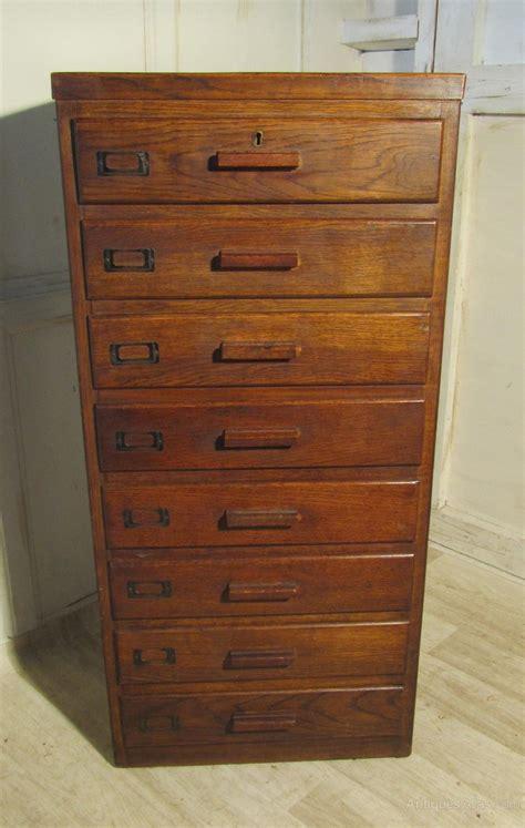 Art Deco 8 Drawer Oak Filing Cabinet   Antiques Atlas
