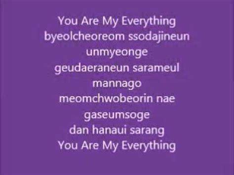 my lyrics korean lyric ost descendants of the sun you are my everything