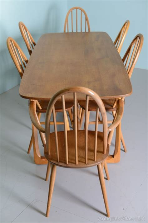 antiques atlas beautiful  elm ercol dining table