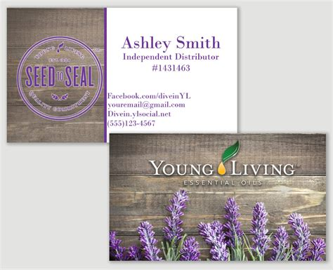 Free Living Business Card Templates by Lavender Living Business Card Printable Distributor