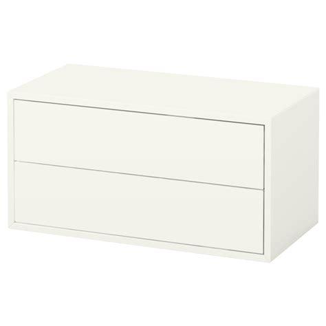 ikea tiroirs de rangement eket rangement 2 tiroirs blanc 70x35x35 cm ikea