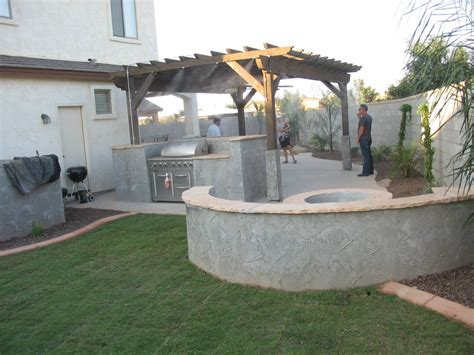 Octagon House Fire Pits Designed By Az Living Landscape Call 480 390 4477