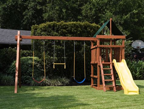 plans to build swing set how to build endeavor diy wood fort swing set plans