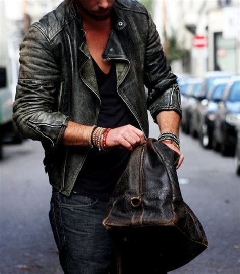 mens leather biker jacket street style leather jackets for men wardrobelooks com