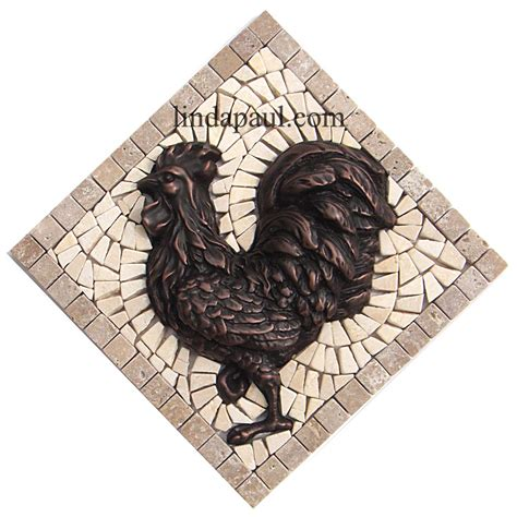 mosaic medallion backsplash rooster tile medallions kitchen backsplashes with rooster