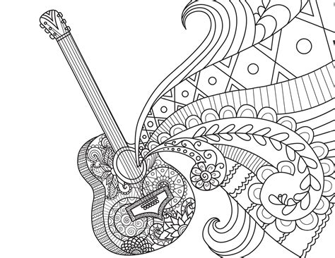 guitar coloring pages coco coloring pages best coloring pages for