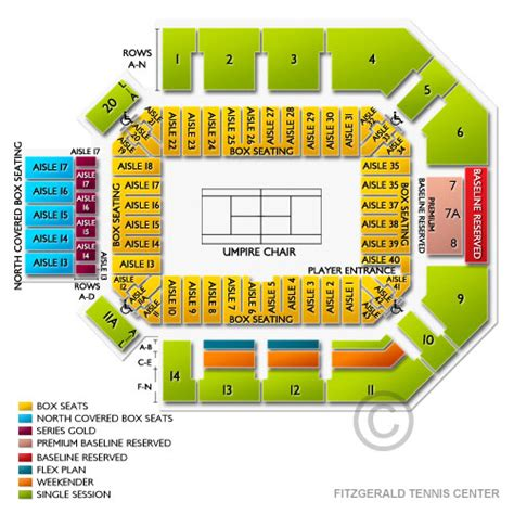 rock house seating chart fitzgerald tennis center seating chart seats