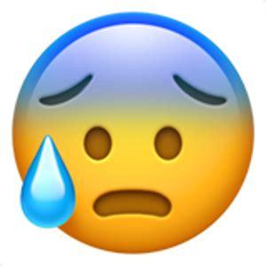 face  open mouth  cold sweat smiley emoji emoji