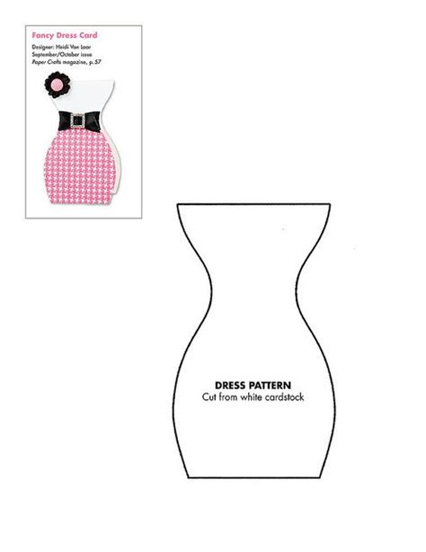 template para dress patterns dress card and patterns on