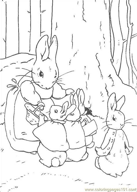 free coloring pages of how to draw rabbits