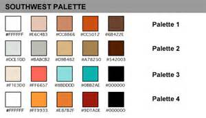 southwest color scheme palettes color schemes