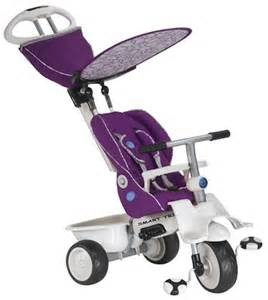 Smart Trike Recliner Smart Trike Recliner Premium 4 In 1 Babies Tricycle Ride On Stroller Purple New Ebay