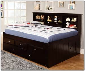 Full size trundle bed with drawers beds home furniture design