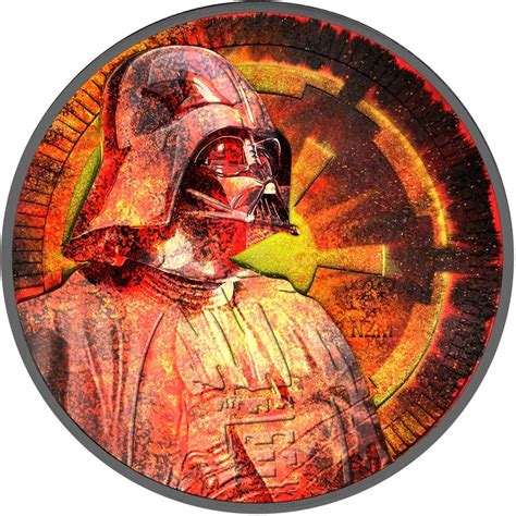 Coin Wars 2017 niue island burning series darth vader wars 2 silver coin 2017 antique finish 1 oz