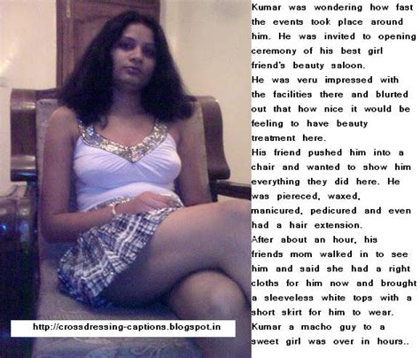 indian sissy salons visit to friends saloon crossdressing captions