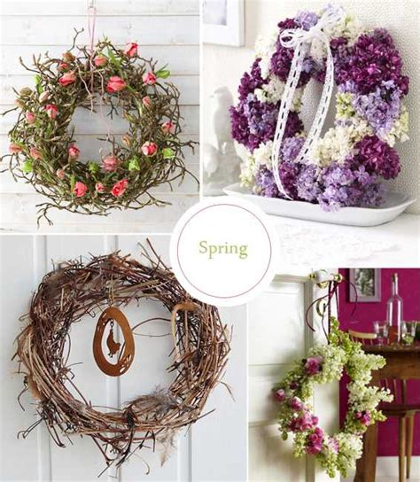 spring decor 30 colorful wreaths adding creative designs to spring home decorating