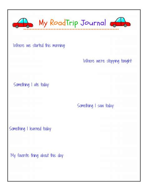 printable road trip journal road trip journal pages free printable peace but not
