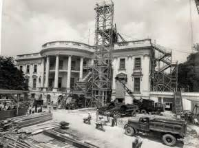 Building The White House by White House South Portico 1950 Photos White House