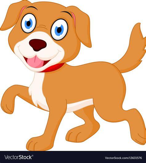 happy dog cartoon royalty  vector image vectorstock