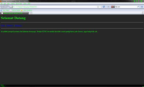tutorial membuat website sederhana dengan html cara membuat website sederhana dengan notepad pemrograman