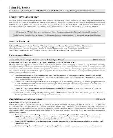 senior executive resume sle sle resume for sr administrative assistant sle resume of