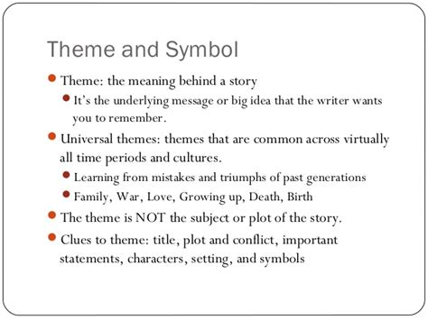 universal themes in literature elementary english i ii genre and literary elements