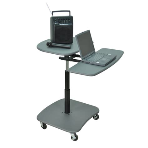 hydraulic standing desk hydraulic computer desk offex mobile hydraulic adjustable multimedia computer desk workstation