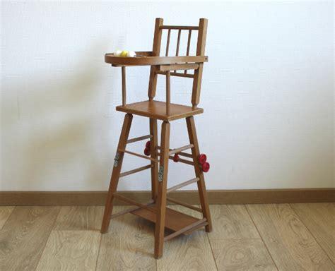 chaise haute vintage pour poup 233 e le vintage dans la peau