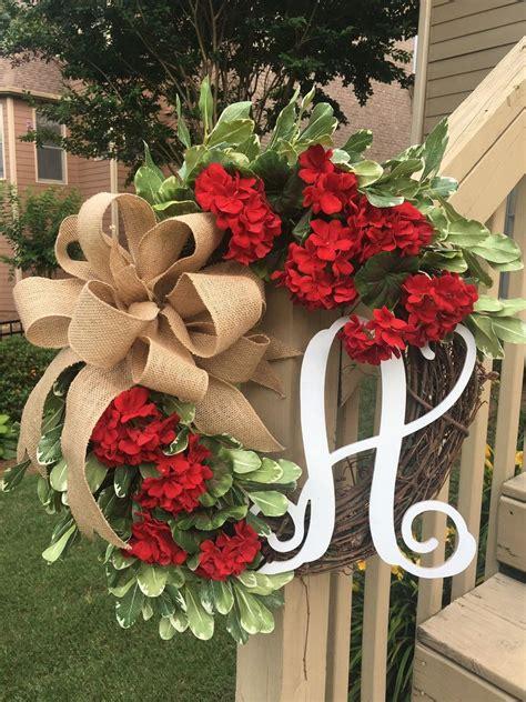 simple spring wreaths  front door decor ideas