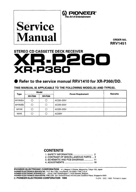 Service Manual For Pioneer Xrp360 Download