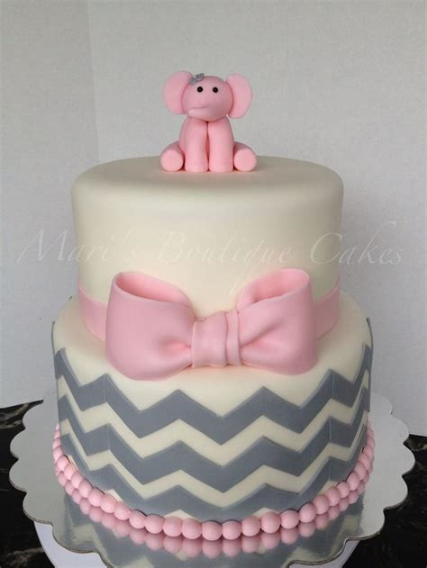 pin by erin fay on wedding fever - Pink Elephant Baby Shower Cake