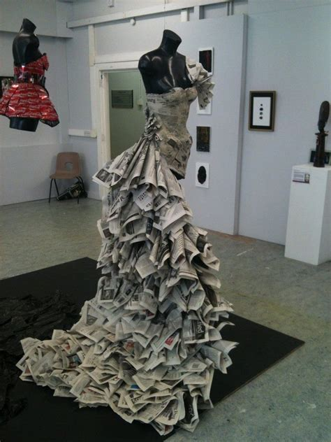 26 amazing paper dresses collection and ideas newspaper