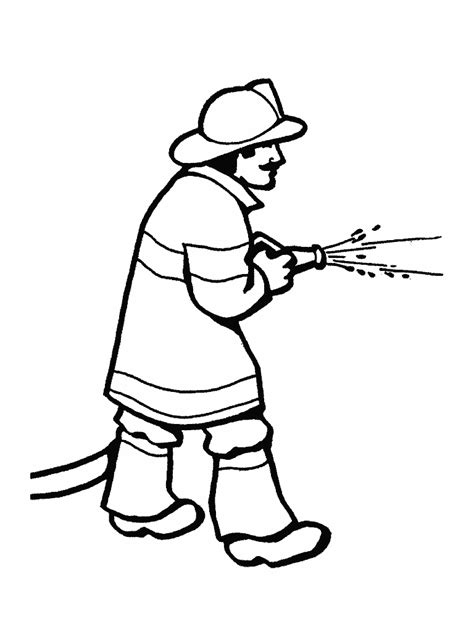 firefighter coloring pages kindergarten firefighter coloring page school pinterest