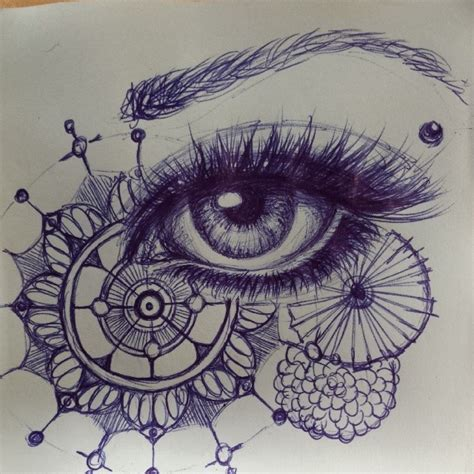 ballpoint pen doodles artist steph z another ballpointpen eyedrawing with a