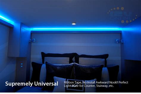 rv led strip lights led 12v 16 quot flexible strip light 3528 blue super bright