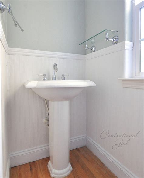 Pvc Beadboard For Bathroom Walls Installing Beadboard Wallpaper Centsational