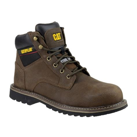 Kickers Boot Leather Safety Brown caterpillar electric mens steel toe safety work boots