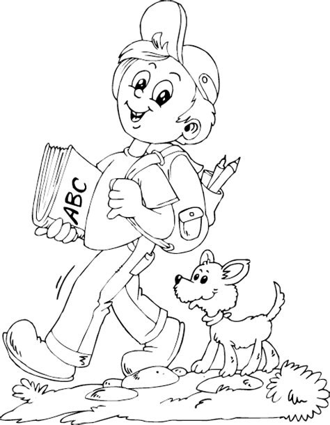 walking dog coloring page walking to coloring pages