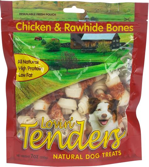 rawhide treats lovin tenders chicken rawhide bones treats specialty products rawhide pet