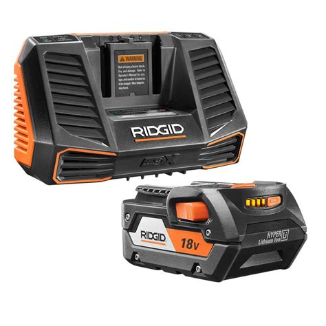 battery charger home depot ridgid 18 volt 4 0ah lithium ion battery and charger kit