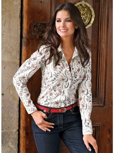 imagenes de blusas vaqueras camisa blusa mujer manga larga estada venca 100480