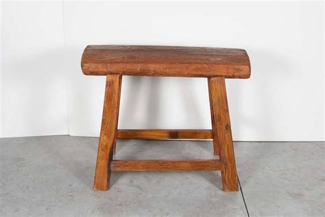 Thick Black Stool by Large Antique Stool With Thick Seat For Sale At 1stdibs