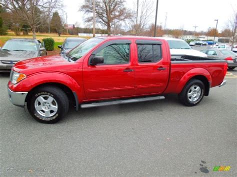 red nissan frontier red brawn 2007 nissan frontier se crew cab exterior photo